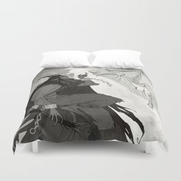 Krampus and Perchta Duvet Cover