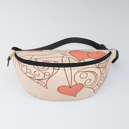 hearts with love Fanny Pack
