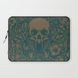 Blue Skull in jungle Laptop Sleeve