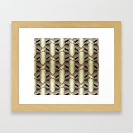 Coffee and Gold Framed Art Print
