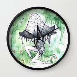 Empire of Mushrooms: Coprinopsis Atramentaria Wall Clock