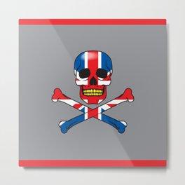 Skull UK Metal Print