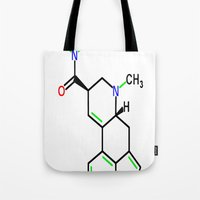 lsd Tote Bags featuring LSD by TLineInc