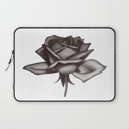 Black and White Rose in Ink Laptop Sleeve