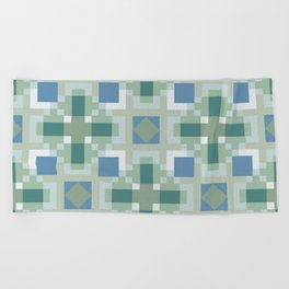 Gentle Shaded Plaid Beach Towel