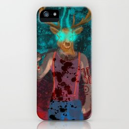 Hotline Miami deer mask guy iPhone Case