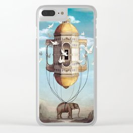 Imaginary Traveler Clear iPhone Case