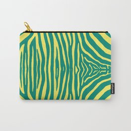 Zebra Pelt in green and yellow Carry-All Pouch