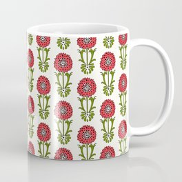 Dot Floral in Red Coffee Mug