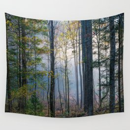 Mystic Forest - Early Morning Glow in Smoky Mountains Wall Tapestry