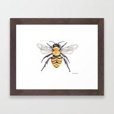 Watercolor Bee Framed Art Print