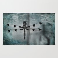 dragonfly Area & Throw Rugs featuring Dragonfly by KunstFabrik_StaticMovement Manu Jobst