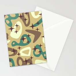 Retro Mid Century Modern Abstract Composition 940 Stationery Cards