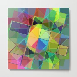 21st Century Stained Glass Metal Print