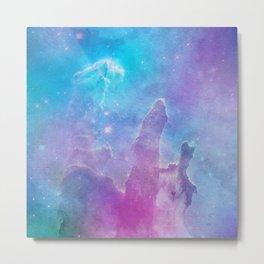 Colorful Deep Space Pillars Of Creation Metal Print