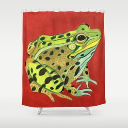 Spotted Frog Friend Shower Curtain