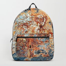 Rustic abstract colourful background Backpack