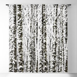Winter Wanderlust Woods VI - Snow Capped Forest Nature Photography Blackout Curtain