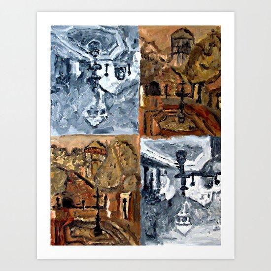 IGLESIA EN LA SERENA Art Print