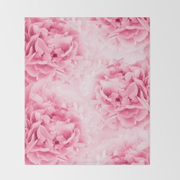 Light Red Peonies Dream #1 #floral #decor #art #society6 Throw Blanket