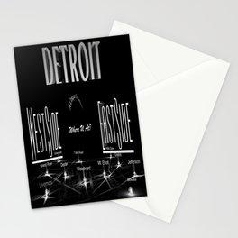 Detroit - Eastside/Westside - Where U at? Stationery Cards