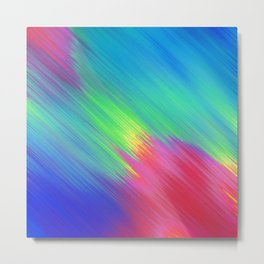 Colorful Movement Metal Print