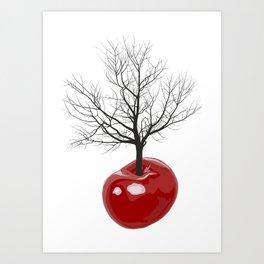 Cherry tree of cherries Art Print