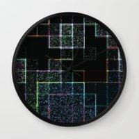 tetris Wall Clocks featuring Tetris by Audrey Erickson