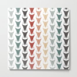 Retro 60s 70s Modern Arrow Pattern Metal Print