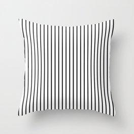 Garden Sludge Grey Pinstripe on White Throw Pillow