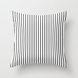 Garden Sludge Grey Pinstripe on White Throw Pillow