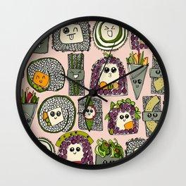 veggie sushi melba Wall Clock