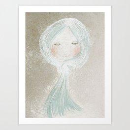 Winter Beard, Ice Haired Girl Art Print