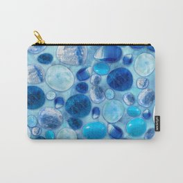 Blue Tumbled Gemstones abstract Carry-All Pouch