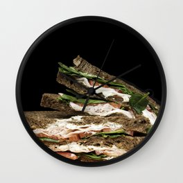 Sandwich say cheese Wall Clock