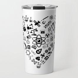 I Love Science   Lab Heart Logic Atheist Travel Mug