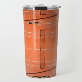 Tennis court orange Travel Mug