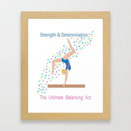 Gymnastics - Ultimate Balancing Act (on Balance Beam) Framed Art Print