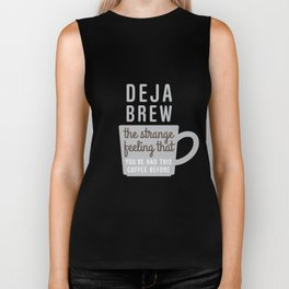 Coffee Deja Brew Biker Tank