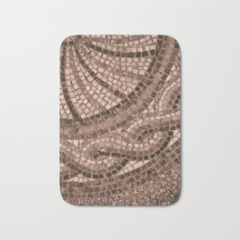 coral coloured stone tile Bath Mat