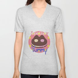Cookie Cat! [text] Unisex V-Neck