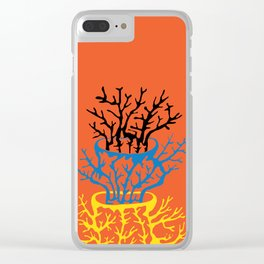 matisse coral Clear iPhone Case
