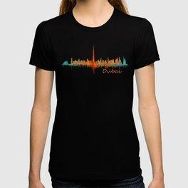 Dubai, emirates, City Cityscape Skyline watercolor art v2 T-shirt
