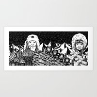 russia Art Prints featuring Russia by Matt Ferguson