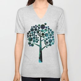 Leslie harlow fantasy Tree 5 Unisex V-Neck