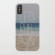 Let's Run Away: Sandy Beach, Hawaii iPhone X Slim Case