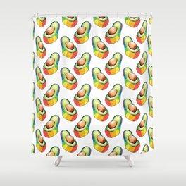 rainbow avocado pattern Shower Curtain