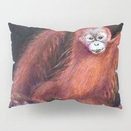 Patient Orangutan Mum and Her Naughty Child Pillow Sham