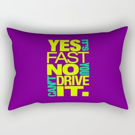 Yes it's fast No you can't drive it v7 HQvector Rectangular Pillow