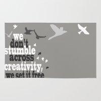 creativity Area & Throw Rugs featuring Creativity by Celina Lopez